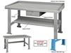 INDUSTRIAL WORK BENCHES - SHELVES, SIDE & BACK STOPS